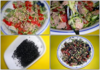 Nella cucina di Ely: Insalata di riso Venere con tonno zucchine e pomodori