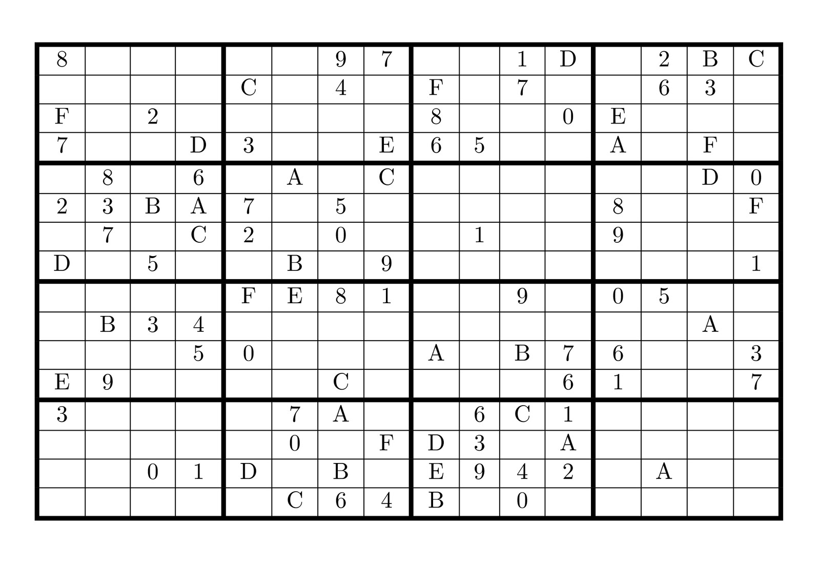 supersudoku16x16numbersletters super sudoku 16 x16 numbers http