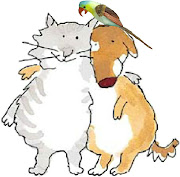 Here's a cartoon cat and dog from my Christmas cards of 2010 cat dog christmas pudding emailjpg