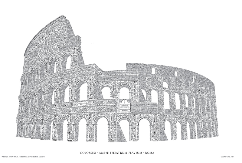 Colosseo Letterpress Poster
