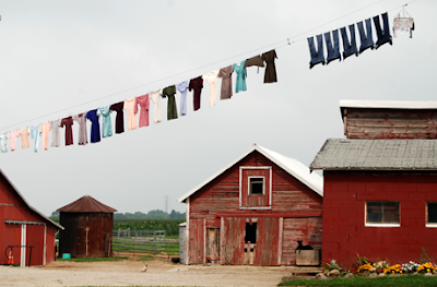 Hanging laundry