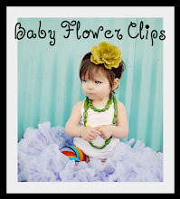 Baby Flower Clips!