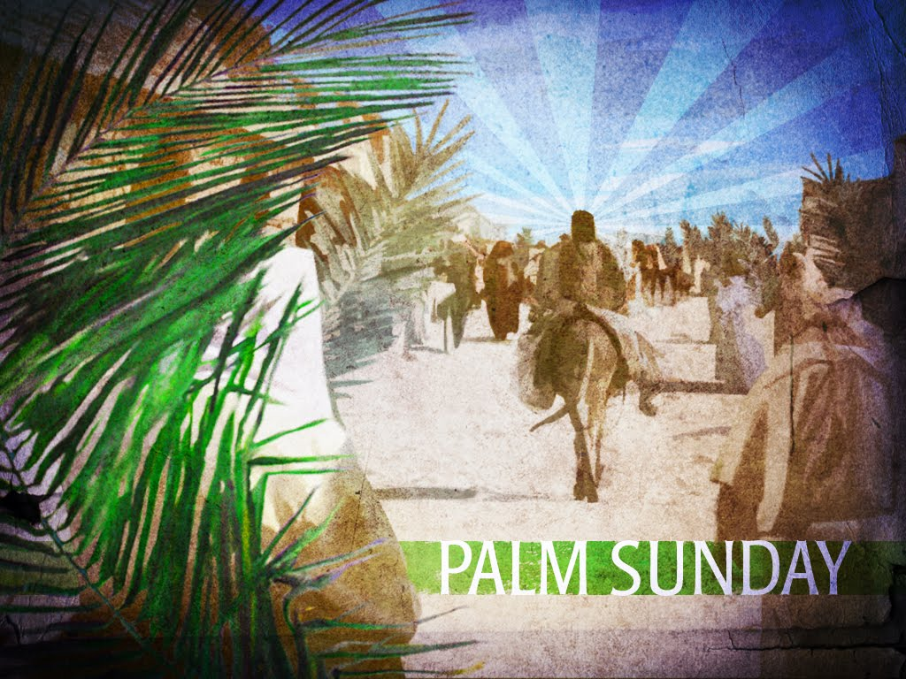 ... the text john 17 1 26 today is palm passion sunday we start shouting