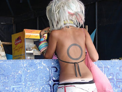 Circle Tattoo on Female Back