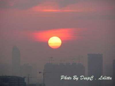 2008年4月5日春, 日落