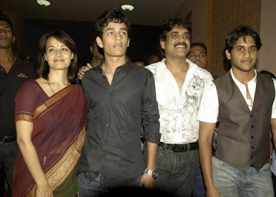 nagarjuna family amala aakill and naga chaitanya
