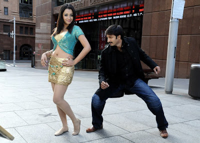 Trisha in Mini Skrit hot Sexy pose, Gopichand in Sankham Hot Stills