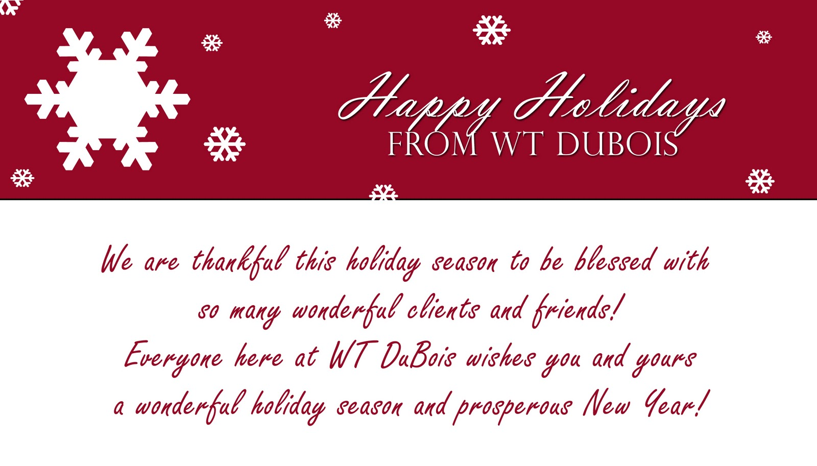 Happy Holidays Messages Dubois Construction President S Corner
