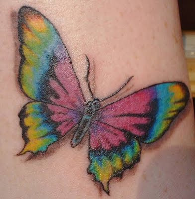 tatuajes vikingos. Tatuajes de mariposas con colores y tribales