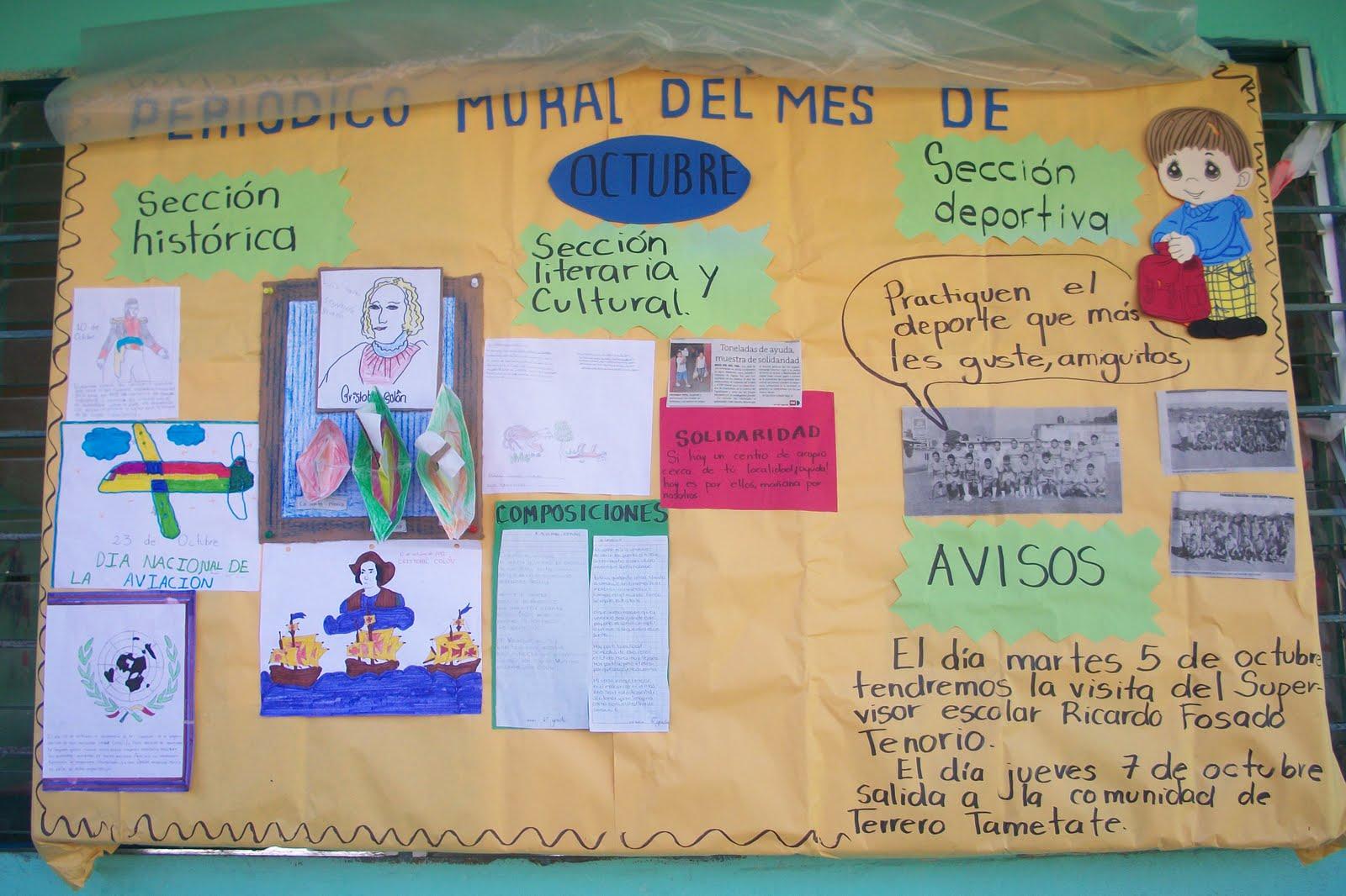 Supervisi n escolar zona 002 tantoyuca norte el peri dico for Caracteristicas de un mural