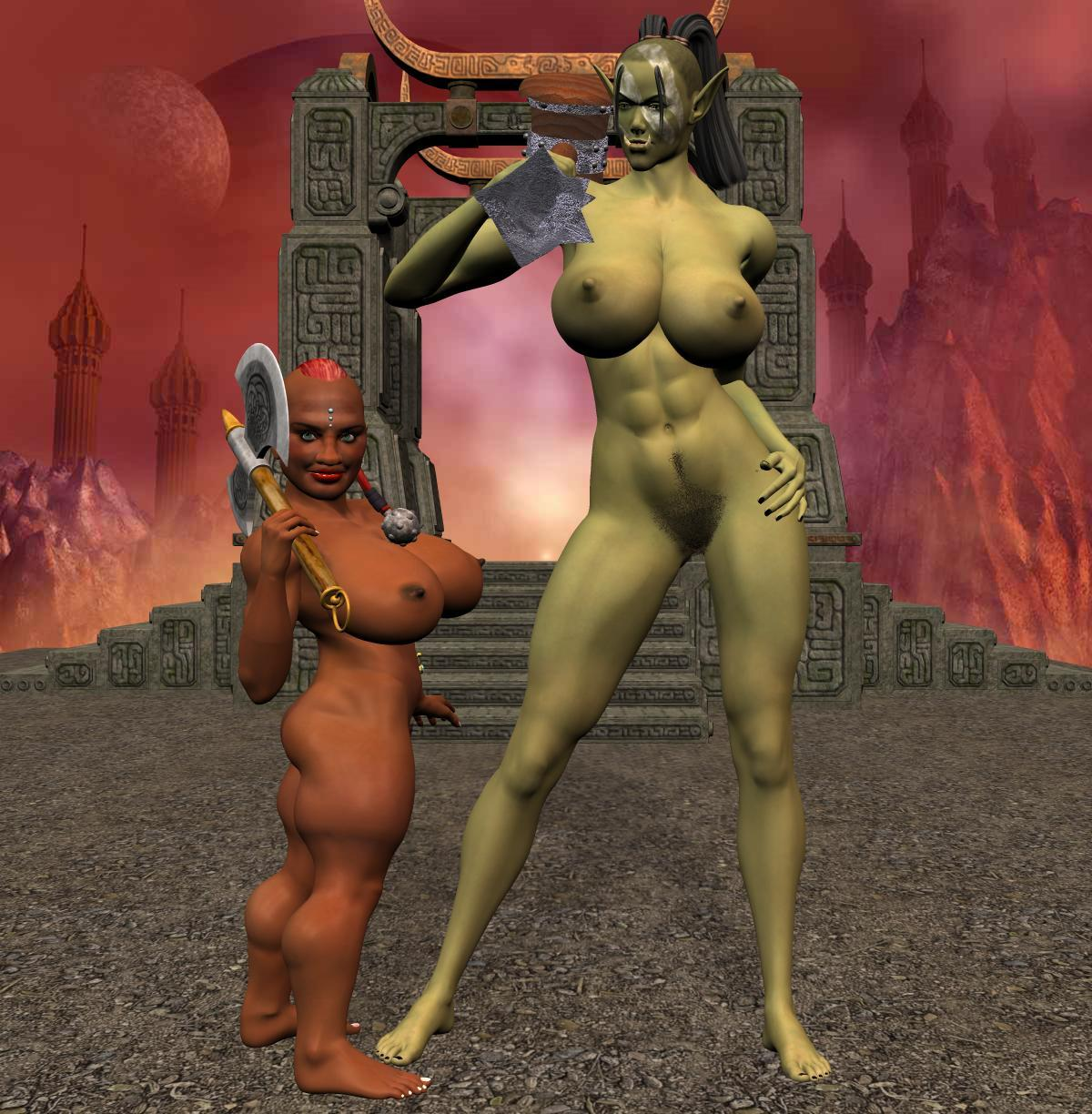 naked Female orc