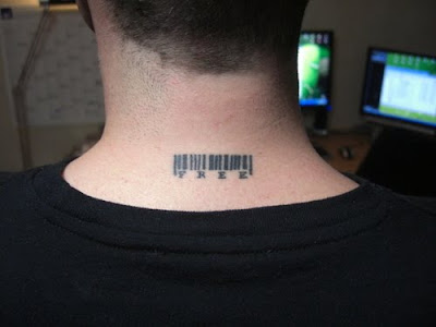 barcode tattoos, neck tattoos, tattoos for guys, tattoos desings,