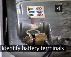 Unmarked Car Battery Terminals