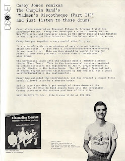 THE CHAPLIN BAND - Madmen's Discotheque (Part 2) (Disconet Remix 1981)