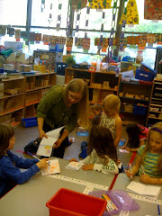 Megan Montague Cash makes books with first graders