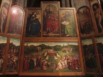 """""""La adoración del cordero místico"""" (1432) en Gante"""