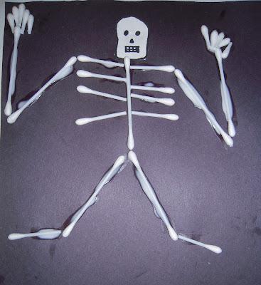 La la 39 s home daycare q tip skeleton for Q tip skeleton template