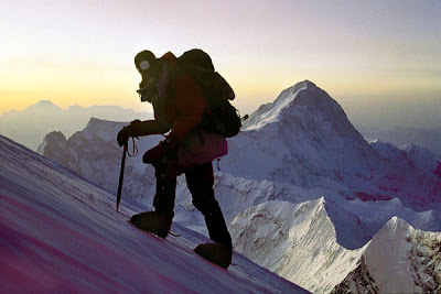 Indonesian Climber On Mount Elbrus