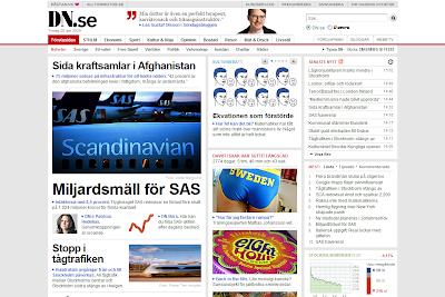 DN.se permite escuchar artículos en sueco