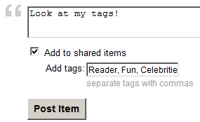 Add a tag while Sharing with Note