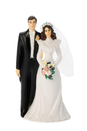 Cake Toppers Couple With Dog