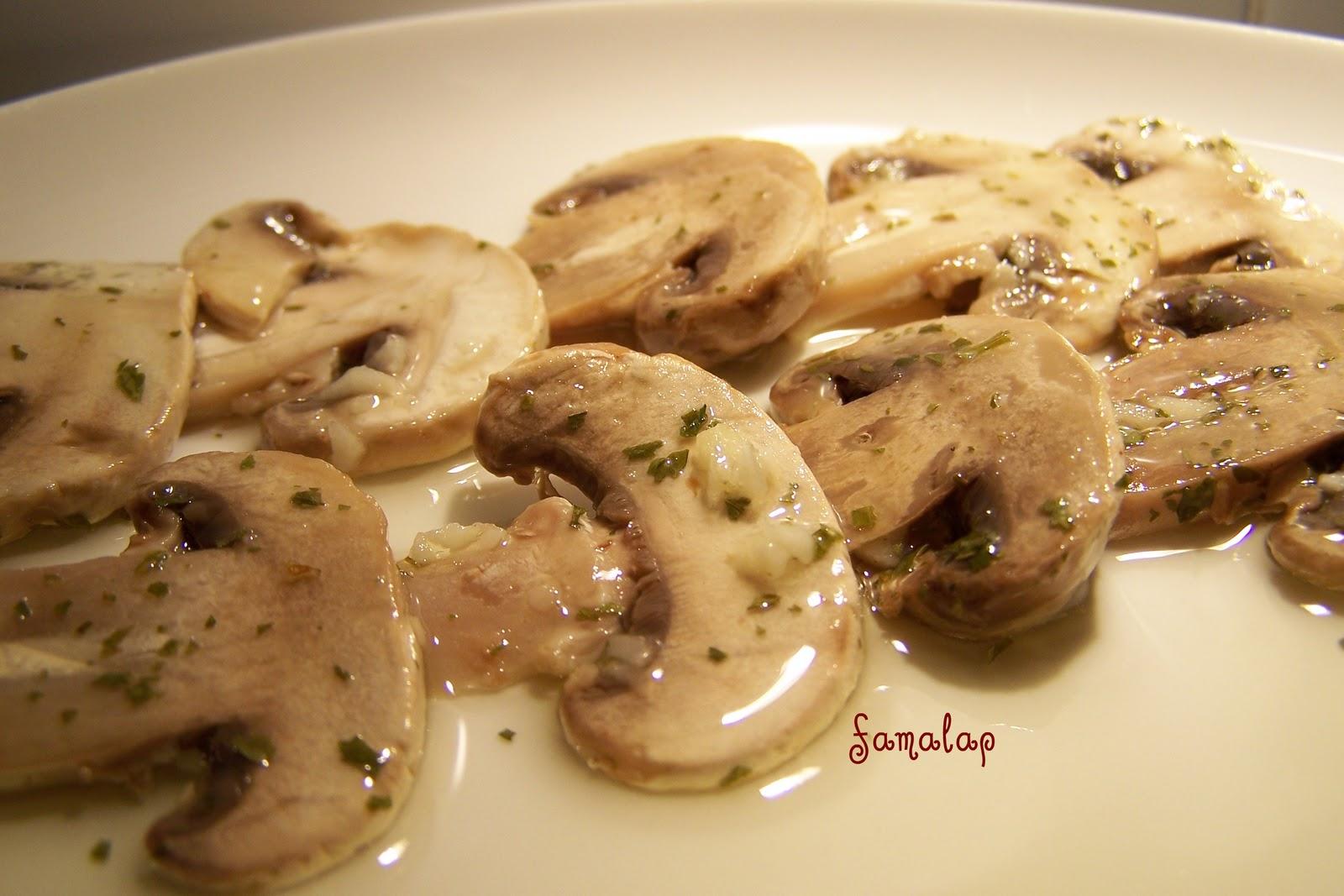 Cocina f cil sin gluten champi ones en vinagre for Cocinar champinones laminados