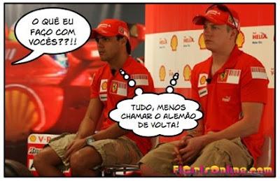 Kimi Räikkönen e Felipe Massa de Castigo