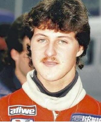 Michael Schumacher jovem de bigode