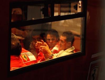 Michael Schumacher ensina Felipe Massa