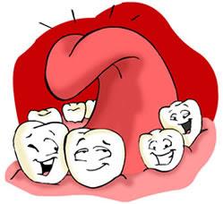 Língua Cercada de Dentes