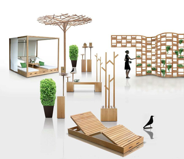 All About Modern Ideas Wooden Outdoor Furniture Designs By Deesawat Green Wall Stick Up