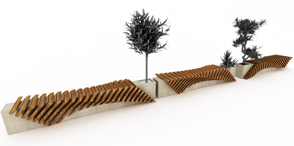 39 All About Modern Ideas 39 Urban Bench With A Planter By