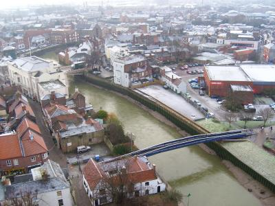 rooftop view of Boston and the River Witham