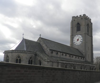 Saint Michael's one handed clock in Coningsby