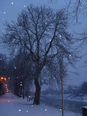 boston lincolnshire falling snow