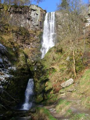 Welsh waterfall: Pistyll Rhaeadr Falls, Wales