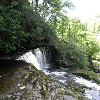 Sgwd Isaf Clun-Gwyn Waterfall, Wales