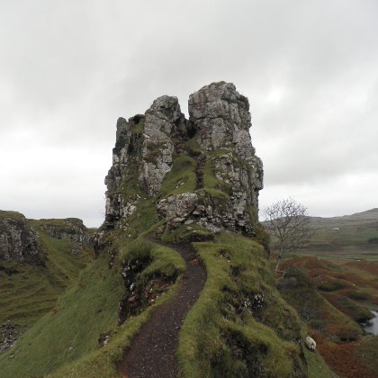 path up the rocky pinnacle, Fairy Glen