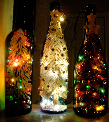 Craft Ideas Empty Wine Bottles On How To Make Christmas Bottle Lights Craftstylish