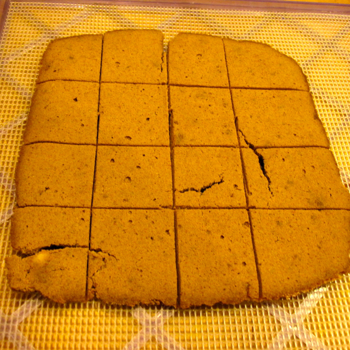 Cinnamon banana bread squares raw vegan recipe w almond milk pulp continue dehydrating until you reach desired dryness the longer you dehydrate the harder theyll become so if you want them like soft forumfinder Gallery