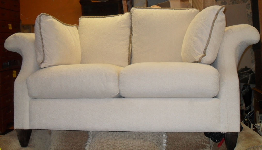 Uhuru Furniture Collectibles Two Matching White Loveseats Sold