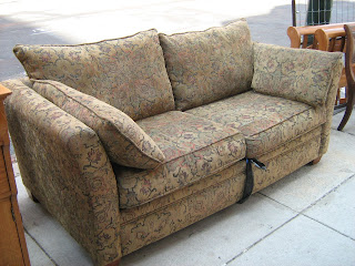 Uhuru furniture collectibles paisley earth tone sofa for Sofa bed 74 inches