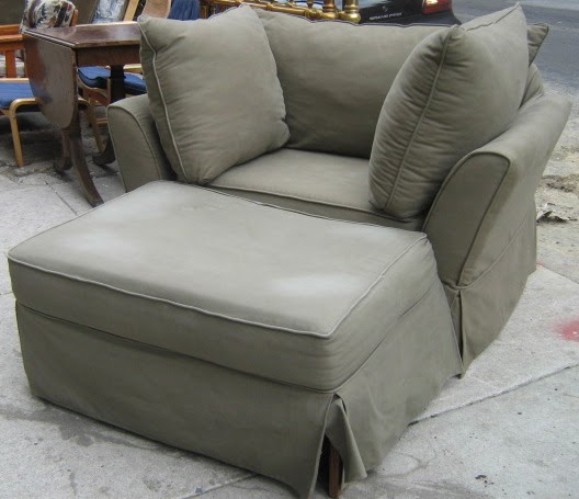 uhuru furniture collectibles big soft chair and ottoman sold