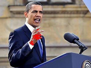 blood on his hands obama