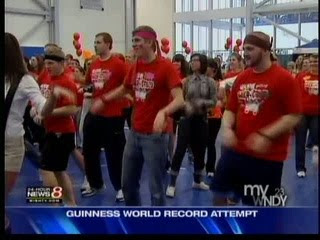 choreographed robot dance an attempt to break the world record,dance world records,world records 2010