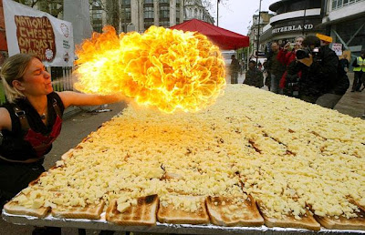 world's largest cheese on toast picture, world's largest cheese on toast phot, world's largest cheese on toast images 2010, world's largest cheese on toast video.