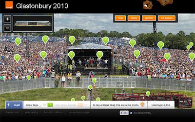 Most People Tagged Online Photo, picture, Glastonbury 2010, England-Slovenia world cup match 2010, giant photograph of music fans, Largest photograph, Guinness World Records