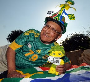 World Oldest Fifa World Cup Vounteer picture, Nelson Mandela Bay's Amrit Daya photo, Guinness World Records, World Oldest Fifa World Cup Volunteer video