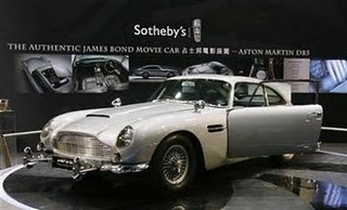 Aston Martin DB5 photo, original Aston Martin DB5 picture, James Bond Real Film Car Video, James Bond's Aston Martin DB5 car price, James Bond's Aston Martin DB5 Sold price in London Auction, Aston Martin DB5 image