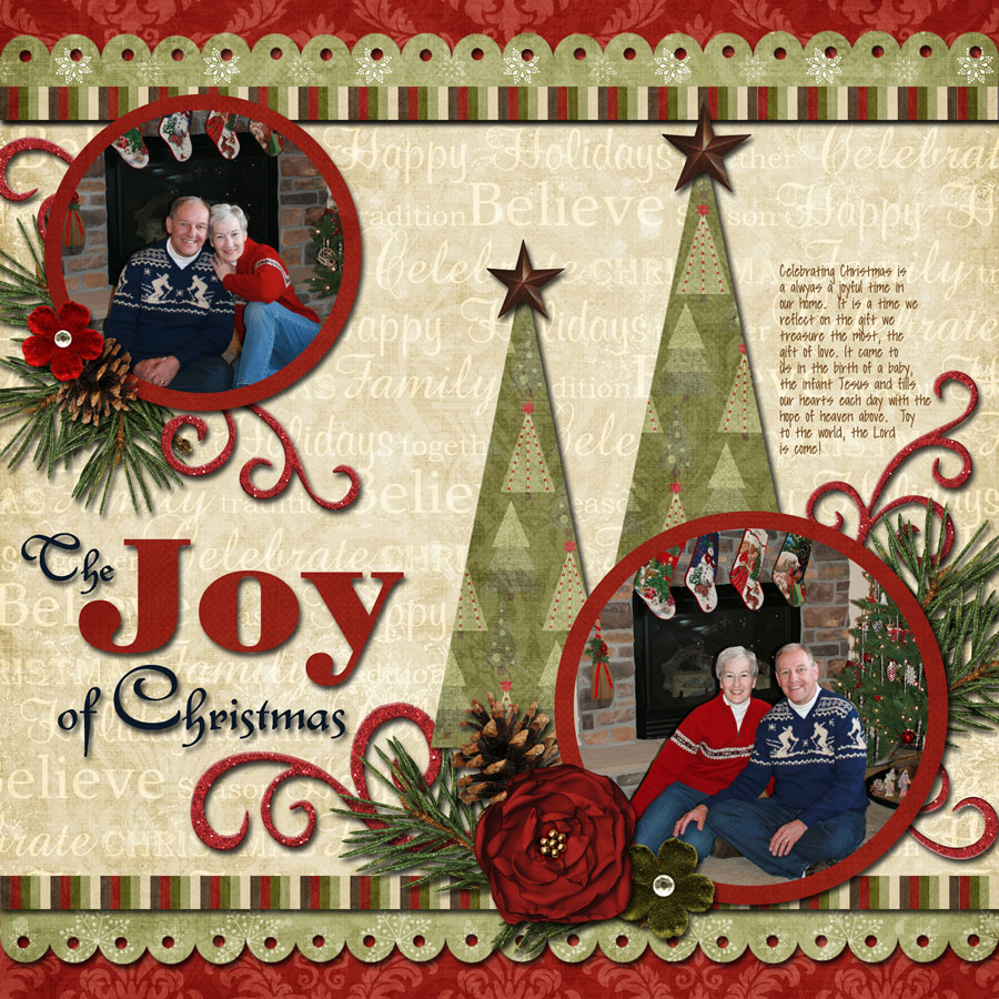 ideas for scrapbookers two christmas trees sketch and